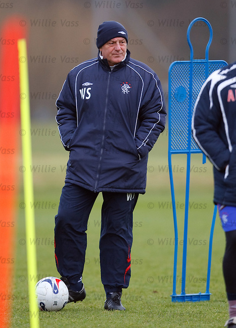 Walter Smith at training today