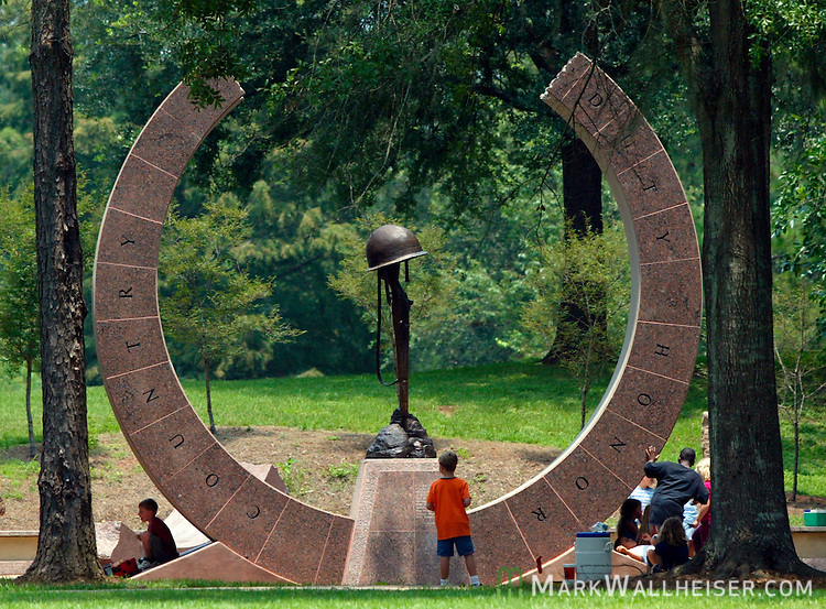 The Korean War Memorial in downtown Tallahassee, Florida,   (Mark Wallheiser/TallahasseeStock.com)