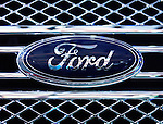 Ford truck logo emblem on a chrome grille