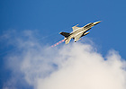 Sept. 22, 2012; A U.S. Air Force F-16 flies over the stadium...Photo by Matt Cashore/University of Notre Dame