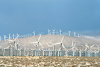 WINDMILLS<br /> Electrical Wind Turbines.Wind farm in Indio, CA<br />  Renewable energy from eolian power