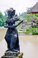 Bali, Badung, Mengwi. Statue of a goddess, Taman Ayun