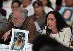 Margarita Lopez, a mother of a dissapeared daughter, screams in front of conservative candidate Josefina Vazquez Mota demanding justice during the dialogue with members of the National Movement for Peace with Justice and Dignity (MPJD) in the Alcazar del Castillo de Chapultepec venue in Mexico City, May 28. 2012. Sicilia and the mothers of disappeared people demanded peace to Mexico and the punishment of the authorities linked to the organized crime in Mexico. Photo by Heriberto Rodriguez