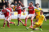 Fleetwood Town's David Ball is fouled by Millwall's Shaun Williams<br /> <br /> Photographer Richard Martin-Roberts/CameraSport<br /> <br /> The EFL Sky Bet League One - Fleetwood Town v Millwall - Monday 17th April 2017 - Highbury Stadium - Fleetwood<br /> <br /> World Copyright &copy; 2017 CameraSport. All rights reserved. 43 Linden Ave. Countesthorpe. Leicester. England. LE8 5PG - Tel: +44 (0) 116 277 4147 - admin@camerasport.com - www.camerasport.com