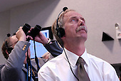 NASA Associate Administrator for Space Operations, Bill Gerstenmaier (foreground) watches the launch of the Space Shuttle Endeavour (STS-118) from the Launch Control Center Wednesday, August 8, 2007, at the Kennedy Space Center in Cape Canaveral, Fla. The Shuttle lifted off from launch pad 39A at 6:36p.m. EDT. Photo Credit: &quot;NASA/Bill Ingalls&quot;