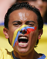 Ecuadorian Fan.  England defeated Ecuador, 1-0, in their FIFA World Cup round of 16 match at Gottlieb-Daimler-Stadion in Stuttgart, Germany, June 25, 2006.