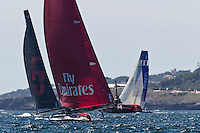 PORTUGAL, Cascais. 5th August 2011. America's Cup World Series. Practice day. EMIRATES TEAM NEW ZEALAND.