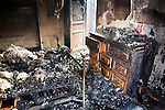 fire gutted bedroom