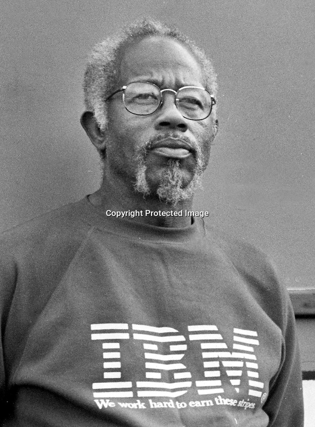 Eldridge Cleaver, author and former Black Panther<br />(1994 photo/Ron Riesterer)