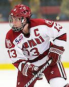 Michael Del Mauro (Harvard - 13) - The Harvard University Crimson defeated the St. Lawrence University Saints 4-3 on senior night Saturday, February 26, 2011, at Bright Hockey Center in Cambridge, Massachusetts.