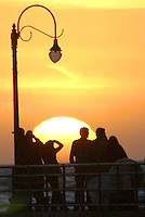 The sunset at Santa Monica Pier on Wednesday, December 29, 2010.