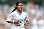 30 September 2012: UNC's Ranee Premji (CAN). The University of North Carolina Tar Heels defeated the University of Miami Hurricanes 6-1 at Fetzer Field in Chapel Hill, North Carolina in a 2012 NCAA Division I Women's Soccer game.