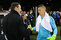 San Jose, CA - Saturday April 08, 2017: Joe Cannon, David Bingham  during a Major League Soccer (MLS) match between the San Jose Earthquakes and the Seattle Sounders FC at Avaya Stadium.