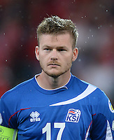 Fussball International  WM Qualifikation 2014   in Bern Schweiz - Island          06.09.2013 Aron Gunnarsson (Island)