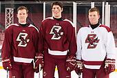 Julius Mattila (BC - 26), David Cotton (BC - 17), Jesper Mattila (BC - 8) - The Boston College Eagles practiced at Fenway on Friday, January 6, 2017, in Boston, Massachusetts.