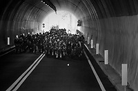 peloton at the highest point on the course: the Passo Del Turchino tunnel<br /> <br /> 108th Milano - Sanremo 2017