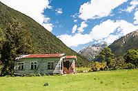 Farming shed near Otira, Arthur's Pass National Park, West Coast, New Zealand