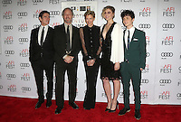 "Hollywood, CA - NOVEMBER 16: Billy Crudup, Mike Mills, Annette Bening, Greta Gerwig, Lucas Jade Zumann, At AFI FEST 2016 Presented By Audi - A Tribute To Annette Bening And Gala Screening Of A24's ""20th Century Women"" At The TCL Chinese Theatre, California on November 16, 2016. Credit: Faye Sadou/MediaPunch"