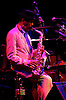 Ornette Coleman died 11th June 2015 <br /> <br /> Randolph Denard Ornette Coleman (March 9, 1930 &ndash; June 11, 2015<br /> <br /> was an American jazz saxophonist, violinist, trumpeter and composer. He was one of the major innovators of the free jazz movement of the 1960s, having also invented the term &quot;free jazz&quot; by naming his album so. Coleman's timbre is easily recognised: his keening, crying sound draws heavily on blues music. His album Sound Grammar received the 2007 Pulitzer Prize for music.<br /> <br /> 2nd May 2005 <br /> Queen Elizabeth Hall, Southbank, London, Great Britain <br /> <br /> Photograph by Elliott Franks