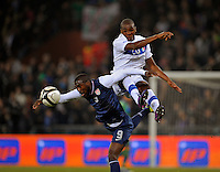 Jozy Altidore (l, USA) vs. Angelo Obinze Ogbonna (r, ITA), during the friendly match Italy against USA at the Stadium Luigi Ferraris at Genoa Italy on february the 29th, 2012.