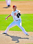 12 March 2011: Washington Nationals' pitcher Yunesky Maya on the mound during a Spring Training game against the New York Yankees at Space Coast Stadium in Viera, Florida. The Nationals edged out the Yankees 6-5 in Grapefruit League action. Mandatory Credit: Ed Wolfstein Photo