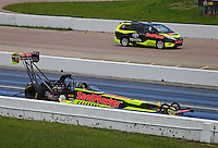 May 21, 2016; Topeka, KS, USA; NHRA top fuel driver J.R. Todd during qualifying for the Kansas Nationals at Heartland Park Topeka. Mandatory Credit: Mark J. Rebilas-USA TODAY Sports