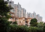 Condos and houses in a luxury residential area in Hu Jing Lu, Chancheng Qu, Huanhu Garden, Foshan city, Guangdong, China. 2016