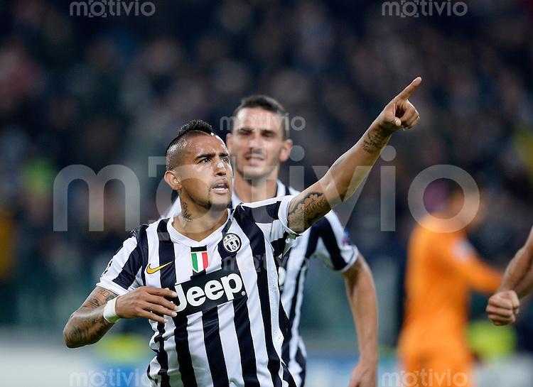 FUSSBALL   CHAMPIONS LEAGUE   SAISON 2013/2014   Vorrunde   Juventus Turin - Real Madrid     05.11.2013 JUBEL Vidal Arturo (Juventus Turin)