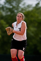 09 April 2009: Rhea Tallo (11) pitches during the the Loranger Lady Wolves 12-0 victory over district rival the Independence Lady Tigers.