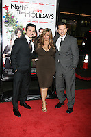 "Freddy Rodriguez  & Wife Elise  , with John Leguizamo arriving at the Premiere of ""Nothing Like the Holidays"" at the Grauman's Chinese Theater in Hollywood, CA.December 3, 2008.©2008 Kathy Hutchins / Hutchins Photo....                ."