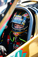 Mar 18, 2017; Gainesville , FL, USA; NHRA top fuel driver Leah Pritchett during qualifying for the Gatornationals at Gainesville Raceway. Mandatory Credit: Mark J. Rebilas-USA TODAY Sports