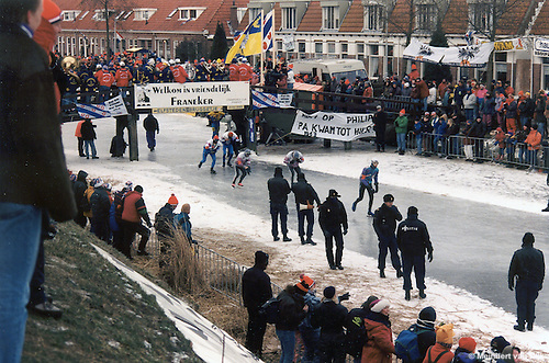 Franeker, 4 januari 1997. Friese Elfstedentocht