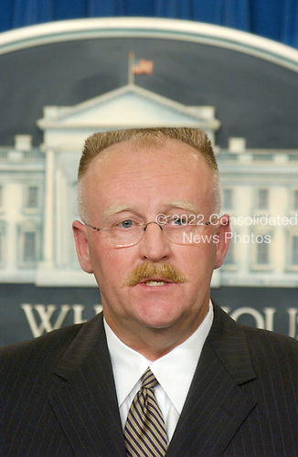 United States Federal Emergency Manpower Administrator (FEMA) Joe Allbaugh makes a statement in the White House Briefing Room in Washington, D.C. on Tuesday, September 11, 2001 in the hours following the terrorist attacks against the World Trade Center in New York and the Pentagon in Washington, DC..Credit: Ron Sachs / CNP