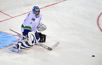 24 January 2009: Vancouver Canucks goalie Roberto Luongo warms up prior to the NHL SuperSkills Competition, part of the All-Star Weekend at the Bell Centre in Montreal, Quebec, Canada. ***** Editorial Sales Only ***** Mandatory Photo Credit: Ed Wolfstein Photo