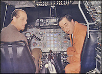 BNPS.co.uk (01202 558833)<br /> Pic DominicWinter/BNPS<br /> <br /> ***Please use full byline***<br /> <br /> Brian in the cockpit with Prince Philip. <br /> <br /> The supersonic archive amassed by legendary Concorde test pilot Brian Trubshaw during his flying career is being sold by his family.<br /> <br /> The collection made by the late airman who was the first to fly the famous turbo-jet in Britain in 1969, includes all his log books covering his 30 years service.<br /> <br /> He went on to put Concorde through its paces, criss-crossing the globe at twice the speed of sound before the plane entered commercial service six years later.<br /> <br /> The archive is being sold by Dominic Winter Auctioneers, Glocs. on November 7th.