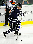 6 December 2009: University of New Hampshire Wildcats' defenseman Damon Kipp, a Sophomore from Salmon Arm, B.C., in action against the University of Vermont Catamounts at Gutterson Fieldhouse in Burlington, Vermont. The Wildcats defeated the Catamounts 5-2 in the Hockey East matchup. Mandatory Credit: Ed Wolfstein Photo