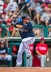 11 March 2016: Atlanta Braves infielder Sean Kazmar in action during a Spring Training pre-season game against the Philadelphia Phillies at Champion Stadium in the ESPN Wide World of Sports Complex in Kissimmee, Florida. The Phillies defeated the Braves 9-2 in Grapefruit League play. Mandatory Credit: Ed Wolfstein Photo *** RAW (NEF) Image File Available ***