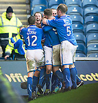 St Johnstone v Aberdeen...13.04.14    William Hill Scottish Cup Semi-Final, Ibrox<br /> Stevie May celebrates his second goal<br /> Picture by Graeme Hart.<br /> Copyright Perthshire Picture Agency<br /> Tel: 01738 623350  Mobile: 07990 594431