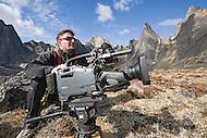 Filmmaker in Tombstone Territorial Park, Yukon