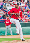 7 March 2015: Washington Nationals pitcher Felipe Rivero in Spring Training action against the St. Louis Cardinals at Space Coast Stadium in Viera, Florida. The Nationals rallied to defeat the Cardinals 6-5 in Grapefruit League play. Mandatory Credit: Ed Wolfstein Photo *** RAW (NEF) Image File Available ***
