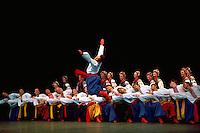 Ukrainian Shumka Dancers from Edmonton, Alberta, AB, Canada, performing on Stage in Traditional Costume