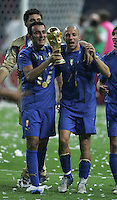 Simone Barone, Alessandro Del Piero.  Italy defeated France on penalty kicks after leaving the score tied, 1-1, in regulation time in the FIFA World Cup final match at Olympic Stadium in Berlin, Germany, July 9, 2006.