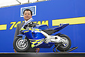 Takashi KATO, motoGP rider Daijiro KATO's father, presents the minibike 74DREAM made by DELTA ENTERPRISE..Circuit Akigase, Saitama City, Japan, on June 04th, 2004.