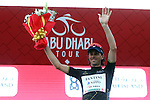 Marco Canola (ITA) Nippo-Vini Fantini retains the intermediate sprints Black Jersey at the end of Stage 3 Al Maryah Island Stage of the 2017 Abu Dhabi Tour, starting at Al Ain and running 186km to the mountain top finish at Jebel Hafeet, Abu Dhabi. 25th February 2017<br /> Picture: ANSA/Matteo Bazzi | Newsfile<br /> <br /> <br /> All photos usage must carry mandatory copyright credit (&copy; Newsfile | ANSA)