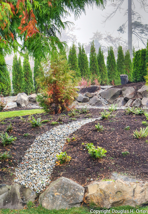 Landscape Boulders Tacoma : Rock path in professionally landscaped garden douglas orton imaging