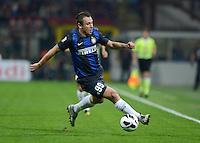 FUSSBALL INTERNATIONAL   SERIE A   SAISON  2012/2013   7. Spieltag AC Mailand  - Inter Mailand                     07.10.2011 Cassano Antonio (Inter Mailand) am Ball