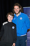 St Johnstone FC Youth Academy Presentation Night at Perth Concert Hall..21.04.14<br /> Stevie May presents to Connor Fossett<br /> Picture by Graeme Hart.<br /> Copyright Perthshire Picture Agency<br /> Tel: 01738 623350  Mobile: 07990 594431