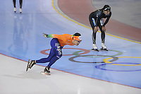 SCHAATSEN: SALT LAKE CITY: Utah Olympic Oval, 14-11-2013, Essent ISU World Cup, training, Jesper Hospes (NED), ©foto Martin de Jong