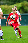 14 October 2010: University of Hartford Hawks forward Alex Uscilla, a Junior from Westport, CT, in action against the University of Vermont Catamounts at Centennial Field in Burlington, Vermont. The Hawks defeated the Lady Cats 6-2 in America East play. Mandatory Credit: Ed Wolfstein Photo