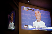 PHOENIX, ARIZONA, USA, 19/10/2016:<br /> People watching third debate between Hillary Clinton and Donald Trump at the republican party headquarters.<br /> Arizona, traditionally very republican state, has become a swing state with both main candidates equally scoring in polls. (Photo by Piotr Malecki / Napo Images)